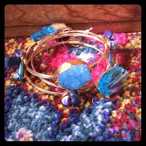 Jewelry - 🌸Drusy, Shell, Wire and Bead Bangles